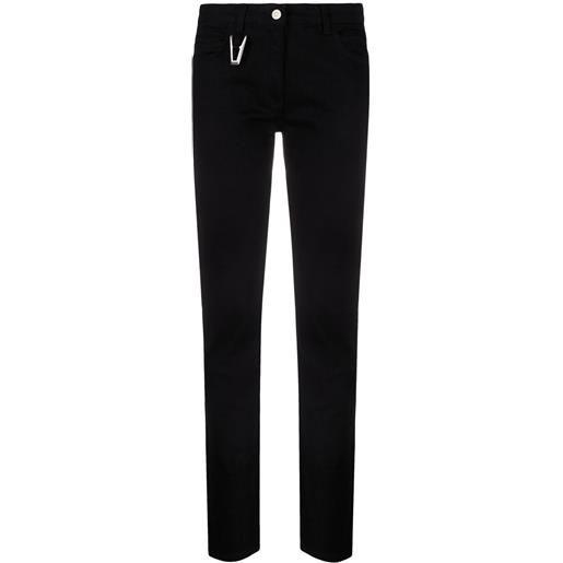 1017 ALYX 9SM jeans slim con anello - nero