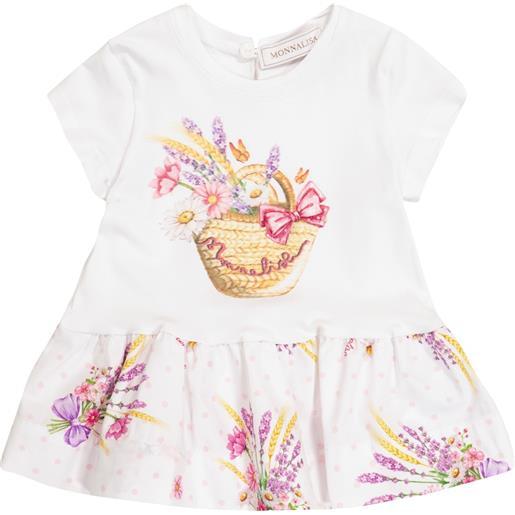 Monnalisa baby - abito in cotone stretch con stampa