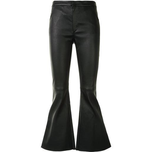 Drome pantaloni svasati - nero