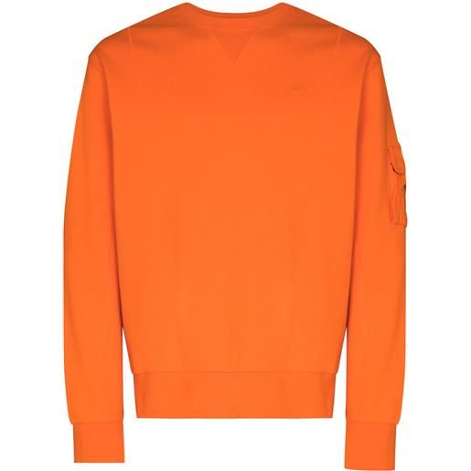 A-COLD-WALL* felpa essential con ricamo - arancione