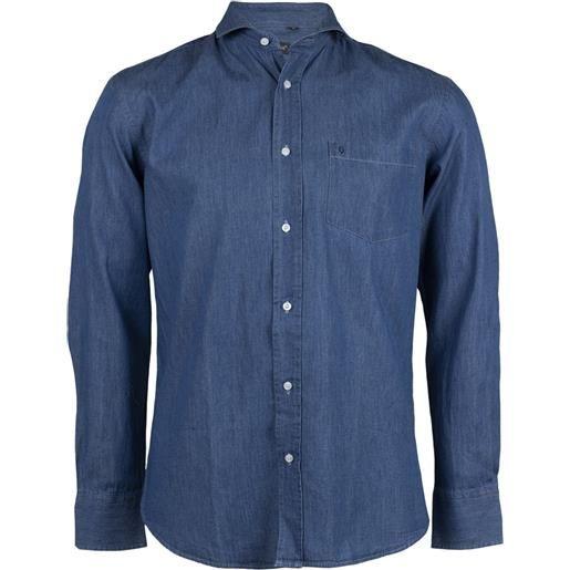 Sky T-Shirt camicia jeans uomo blu