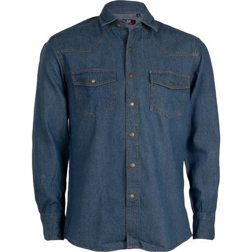 Sky T-Shirt camicia jeans uomo stone wash