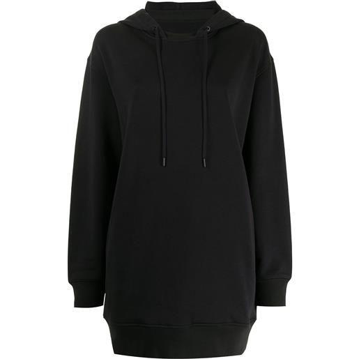 3.1 Phillip Lim drawstring-hood sweatshirt dress - nero