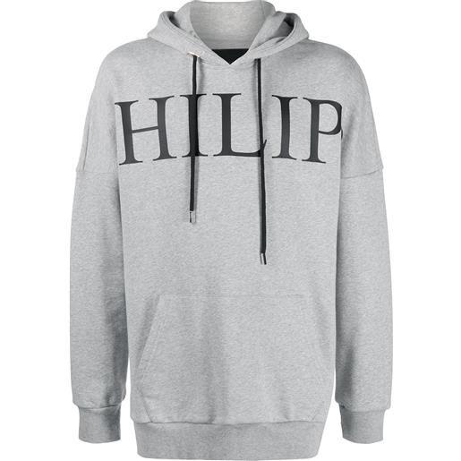 Philipp Plein felpa con stampa - grigio