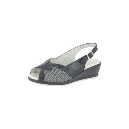 Sanagens classic 1948 sandalo donna nero/antracite 38