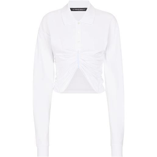 Y/PROJECT camicia cropped in cotone