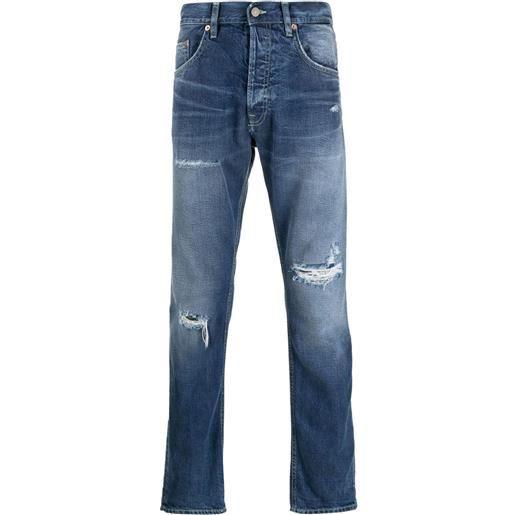 DONDUP pantaloni slim a vita media - blu