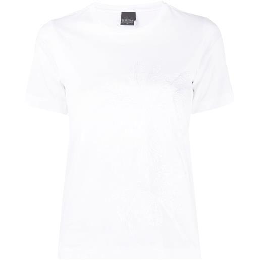 Lorena Antoniazzi t-shirt con ricamo - bianco