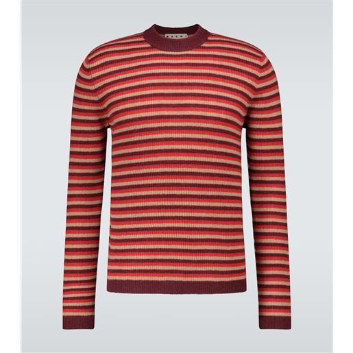 Marni pullover a righe in lana vergine e cashmere