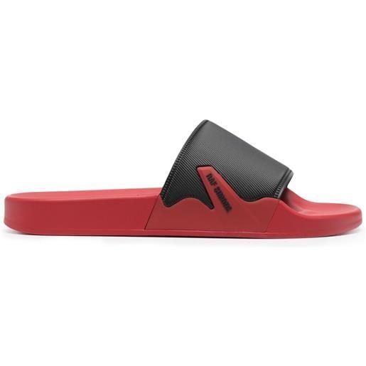 Raf Simons sandali slides con fascia a contrasto - nero