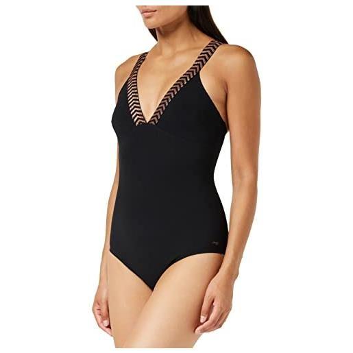 sloggi Shore mili atoll one piece costume intero, black, m donna
