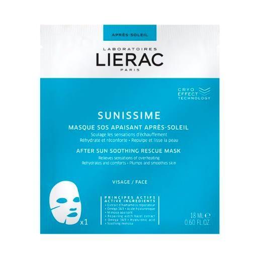 Lierac sunissime maschera sos lenitiva doposole in tessuto 18 ml