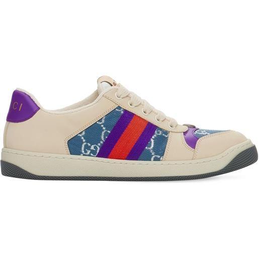 """GUCCI sneakers """"screener"""" con web 30mm"""