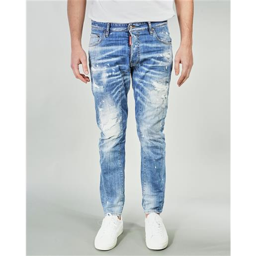 DSQUARED jeans ripped white spots wash tidy biker dsquared