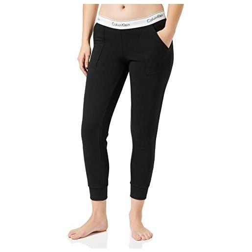 Calvin Klein bottom pant jogger pantaloni sportivi, nero (black 001), m donna