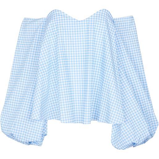 CAROLINE CONSTAS blusa everly a quadretti in misto cotone