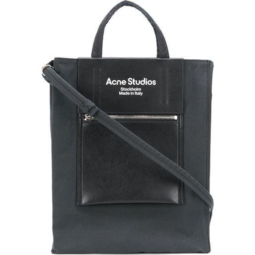 Acne Studios borsa tote media - nero