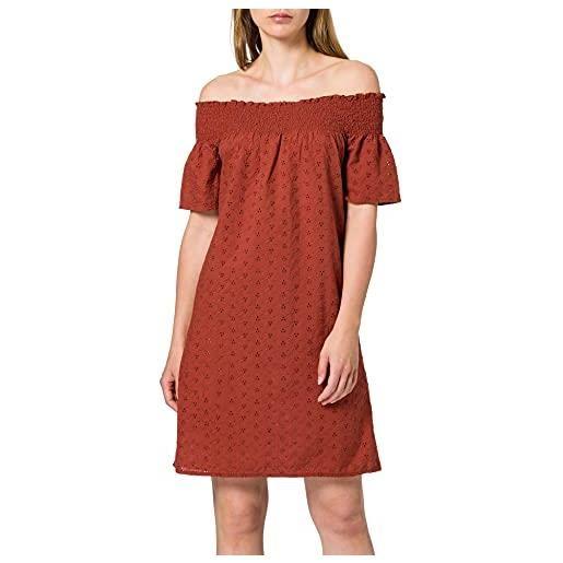 Only onlnew shery life emb offsho dress dnm vestito, hennè, l donna