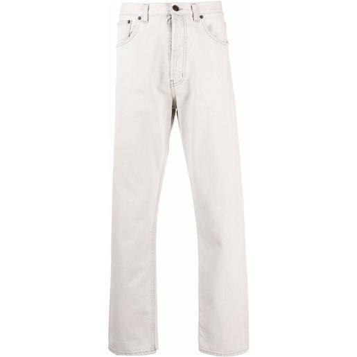 Saint Laurent jeans dritti a vita media - toni neutri