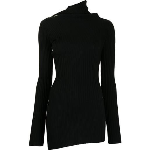 Proenza Schouler maglione a coste asimmetrico - nero