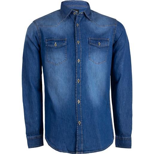 Coveri Contemporary camicia jeans in cotone da uomo