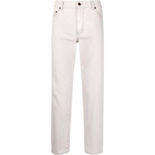 Saint Laurent jeans crop dritti - grigio