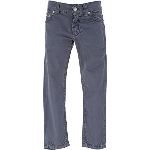 Dondup pantaloni bambino in outlet, blue, cotone, 2021, 4y 6y