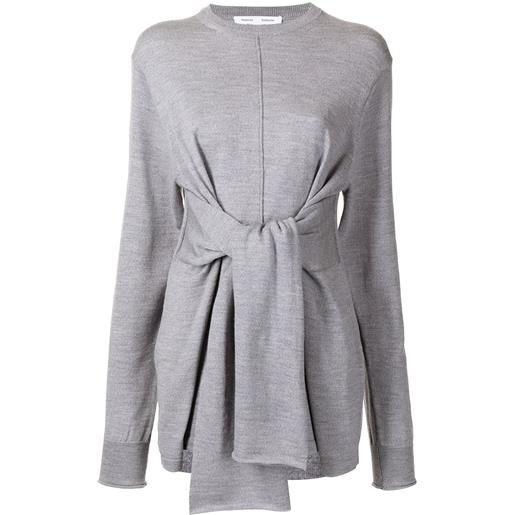 Proenza Schouler White Label maglione a coste - grigio