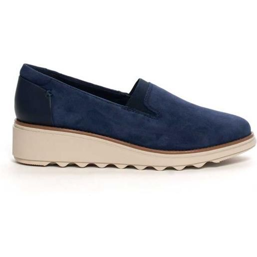 Collection by Clarks scarpa slip-on clarks sharon dolly camoscio blu