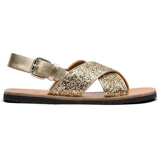 Car Shoe sandali con paillettes - oro