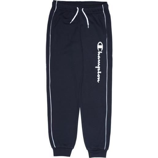 CHAMPION pantalone c/polso CHAMPION pantalone con polsino logo grande blu navy