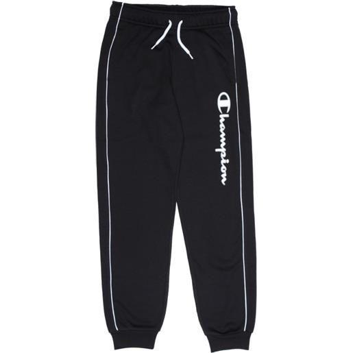 CHAMPION pantalone c/polso CHAMPION pantalone con polsino logo grande nero