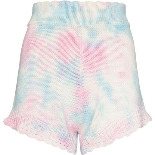 LoveShackFancy short con fantasia tie dye karissa - rosa