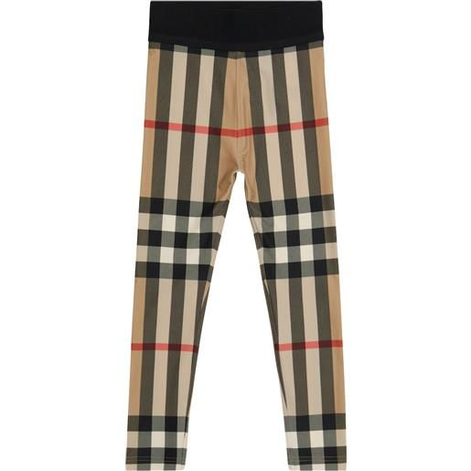 Burberry Kids leggings in jersey stretch vintage check