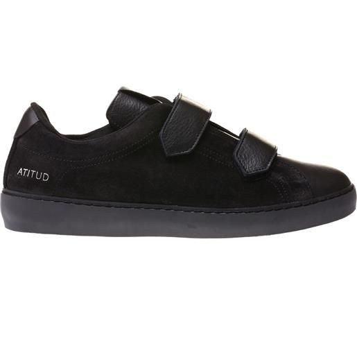 LEATHER CROWN sneakers atitud in suede e cervo