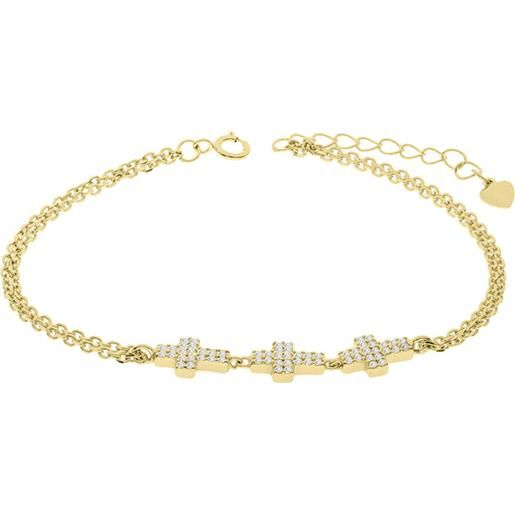 1ONE bracciale in argento charms croce