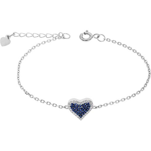 1ONE bracciale cuore in argento charms