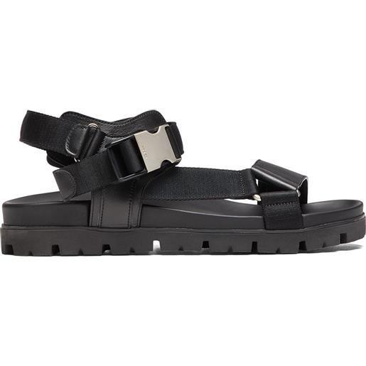 Prada sandali con suola piatta - nero