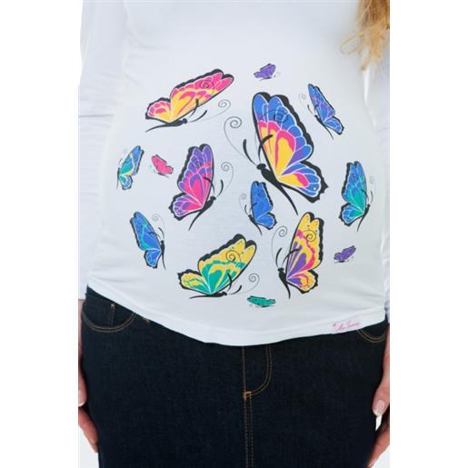Maglia maternità butterflies
