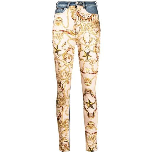 Philipp Plein jeans skinny barocco con stampa - toni neutri