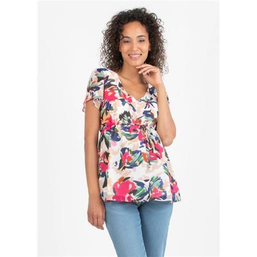 Attesa Maternity camicia floreale