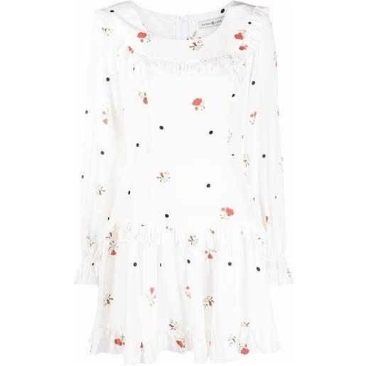 Roses & Lace abito melissa a fiori - bianco