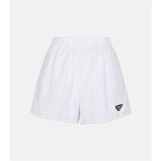 Prada shorts in spugna di cotone