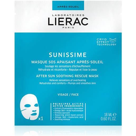 Lierac sunissime maschera sos lenitiva dopo sole