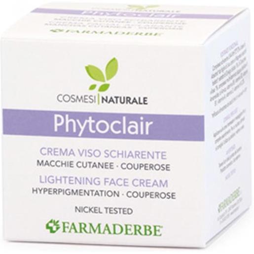 Farmaderbe phyto clair - crema viso schiarente, 50ml