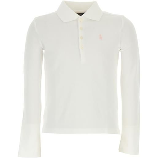 Ralph Lauren polo bambina in outlet, bianco, cotone, 2021, 5y 6y s xl