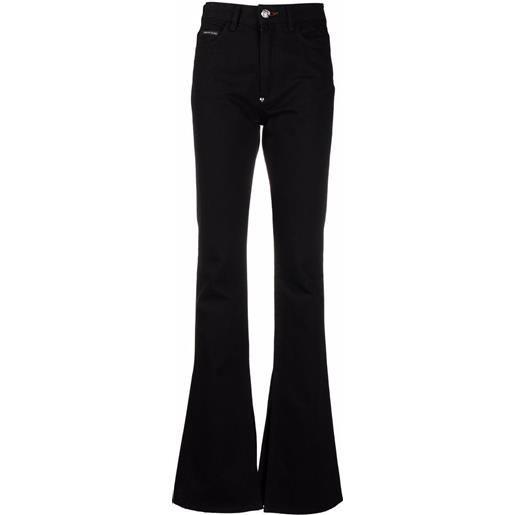 Philipp Plein jeans svasati a vita alta - nero