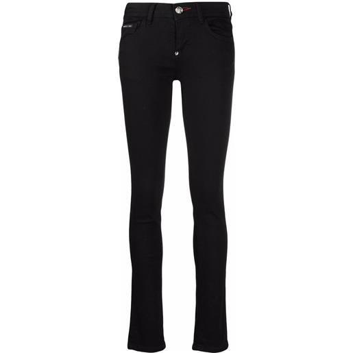 Philipp Plein jeans skinny a vita bassa - nero