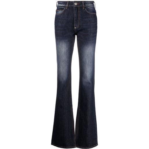 Philipp Plein jeans svasati a vita alta - blu