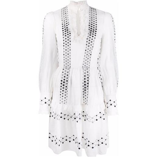 Temperley London abito corto robin - bianco